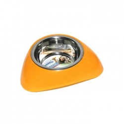 Pawise - 11021 SS Bowl W/Plastic Stands - Mama Kabı 450ml (Orange)