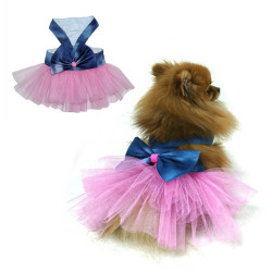 Little Friends - Bumpaws Fiyonklu Pembe Tül Kedi&Köpek Elbise 4 lü
